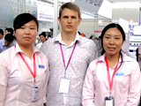 www.RomanTsibulsky.com a Roman Tsibulsky with the Chinese partners at an exhibition of the pharmaceutical equipment, 2011, the city of Shenyang, China.